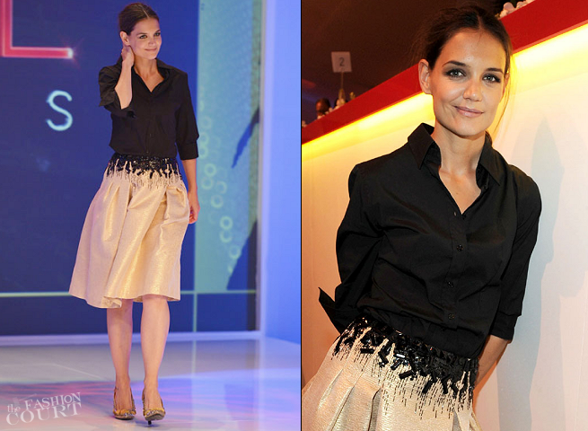Katie Holmes in Carolina Herrera | 2012 Style Awards