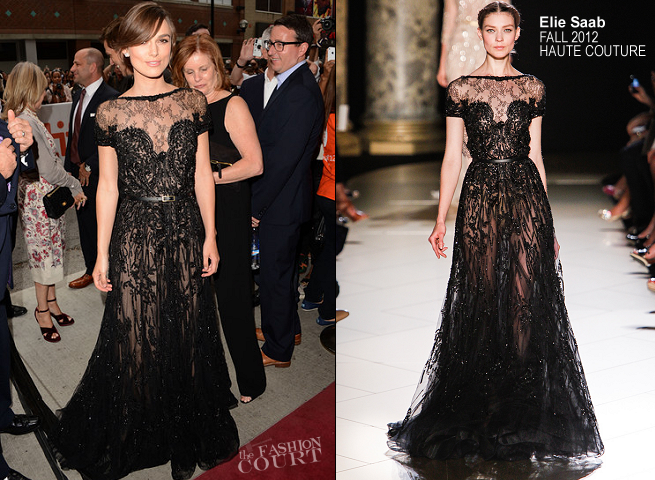Keira Knightley in Elie Saab Couture | 'Anna Karenina' Photocall - 2012 Toronto International Film Festival