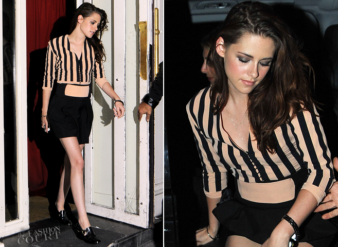 Kristen Stewart in Balenciaga | Paris Fashion Week: Balenciaga Dinner