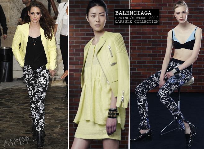 Kristen Stewart in Balenciaga | Paris Fashion Week: Spring 2013 - Balenciaga