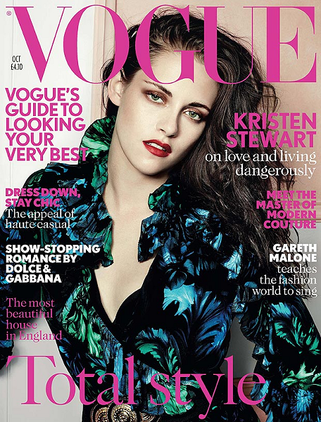 Kristen Stewart in Gucci | British VOGUE - October 2012