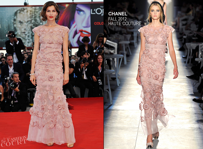 Laetitia Casta in Chanel Couture | 'L'Homme Qui Rit' Premiere & Award Ceremony - 2012 Venice International Film Festival
