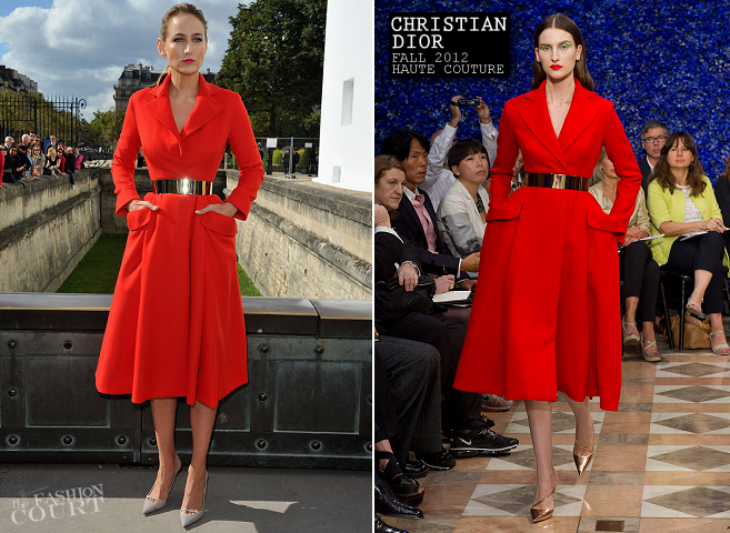 Leelee Sobieski in Christian Dior Couture | Paris Fashion Week: Spring 2013 - Christian Dior