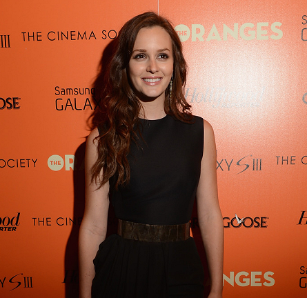 Leighton Meester in Giambattista Valli | 'The Oranges' NYC Screening