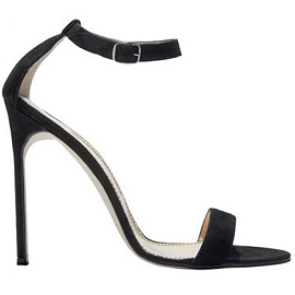 Manolo Blahnik Chaos Ankle Strap Suede Sandals