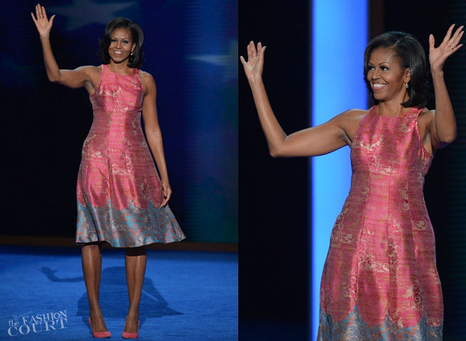 Michelle Obama in Tracy Reese | 2012 Democratic National Convention