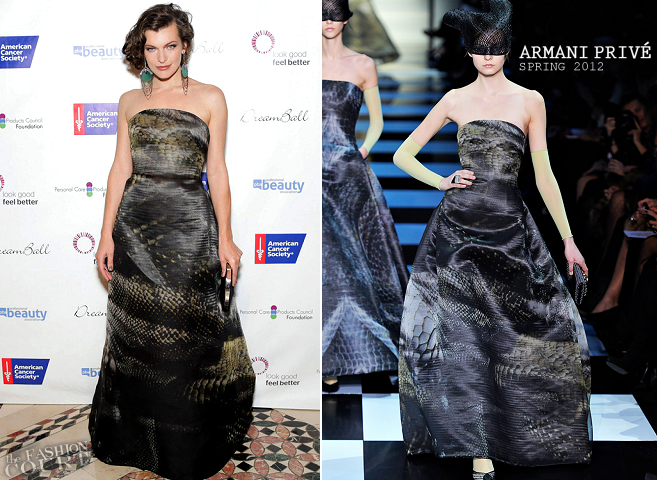 Milla Jovovich in Armani Privé | DreamBall 2012