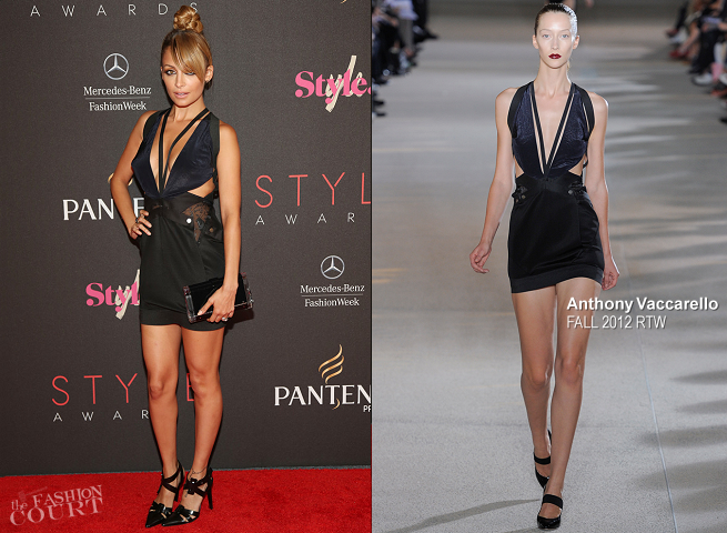 Nicole Richie in Anthony Vaccarello | 2012 Style Awards