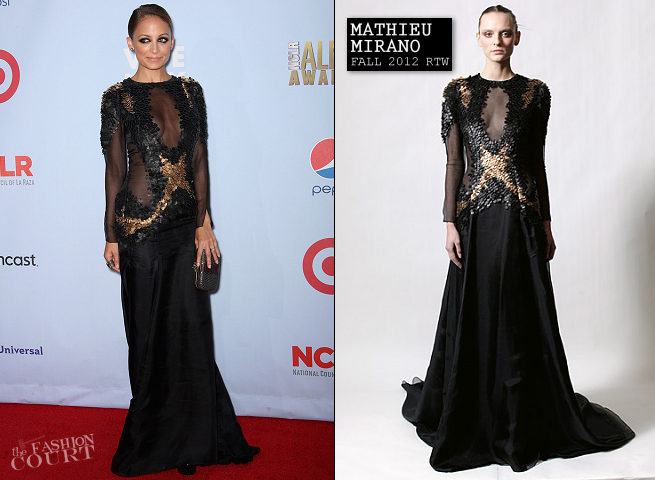 Nicole Richie in Mathieu Mirano | 2012 NCLR ALMA Awards