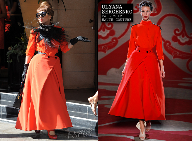Lady Gaga in Ulyana Sergeenko | Leaving Her London Hotel