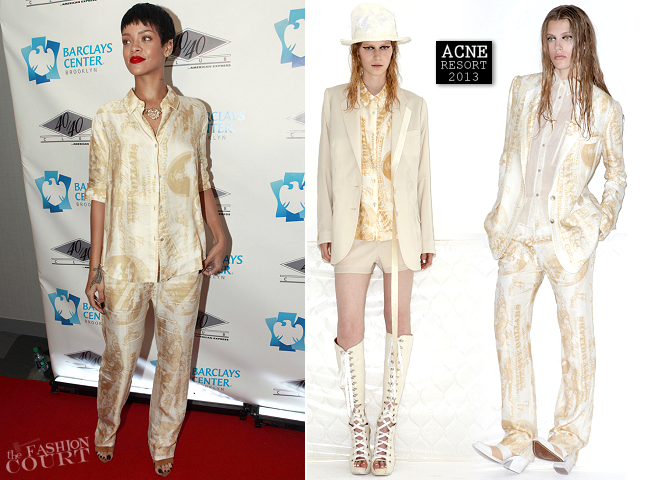 Rihanna in Acne | 40/40 Club Grand Opening