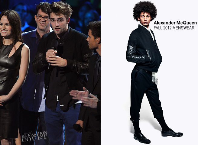 Robert Pattinson in Alexander McQueen | 2012 MTV Video Music Awards