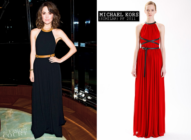Rose Byrne in Michael Kors | Lucky Magazine Celebrates New York Fashion Week
