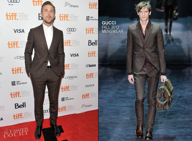 Ryan Gosling in Gucci | 'The Place Beyond the Pines' Premiere - 2012 Toronto International Film Festival