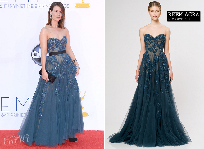 Sarah Paulson in Reem Acra | 2012 Emmy Awards