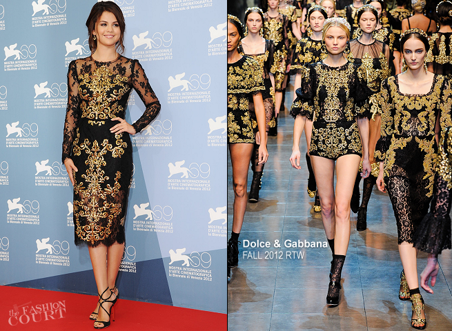Selena Gomez in Dolce & Gabbana | 'Spring Breakers' Photocall - 2012 Venice International Film Festival