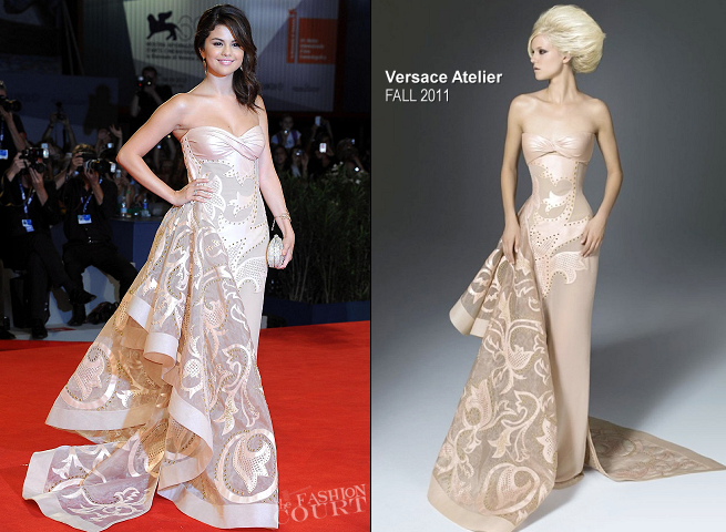 Selena Gomez in Atelier Versace | 'Spring Breakers' Premiere - 2012 Venice International Film Festival