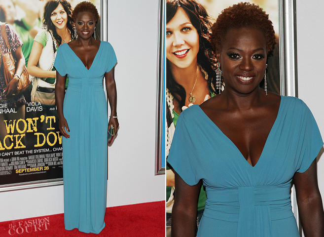 Viola Davis in Alberta Ferretti | 'Won't Back Down' NYC Premiere