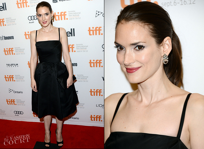 Winona Ryder in Vintage | 'The Iceman' Premiere - 2012 Toronto International Film Festival