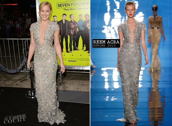 Abbie Cornish in Reem Acra | 'Seven Psychopaths' Hollywood Premiere