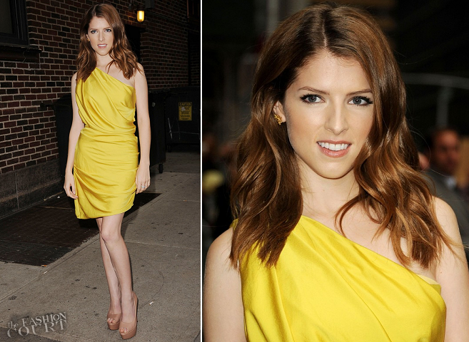 Anna Kendrick in Halston Heritage | 'Late Show with David Letterman'