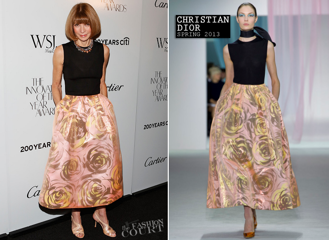 Anna Wintour in Christian Dior | WSJ. Magazine 'Innovator Of The Year' Awards 2012