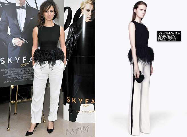 Bérénice Marlohe in Alexander McQueen | 'Skyfall' Paris Photocall