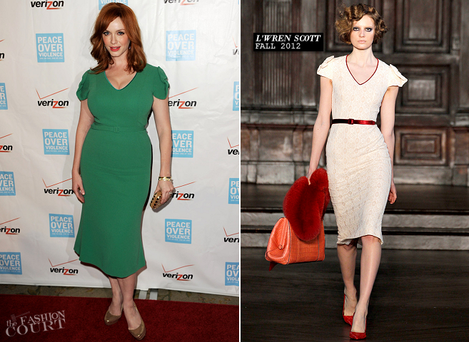 Christina Hendricks in L'Wren Scott | Peace Over Violence 41st Annual Humanitarian Awards