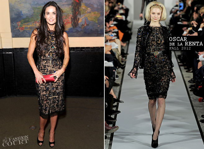 Demi Moore in Oscar de la Renta | GEMS Girls Like Us Benefit Gala