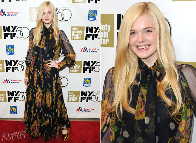 Elle Fanning in Vintage | 'Ginger and Rosa' Premiere - 2012 New York Film Festival