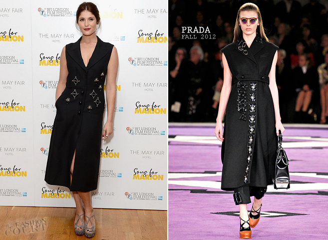 Gemma Arterton in Prada | 'Song For Marion' Premiere: 2012 BFI London Film Festival