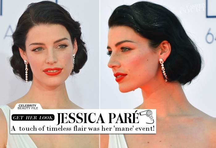 Emmy Beauty: Jessica Paré's Timeless Mane Event