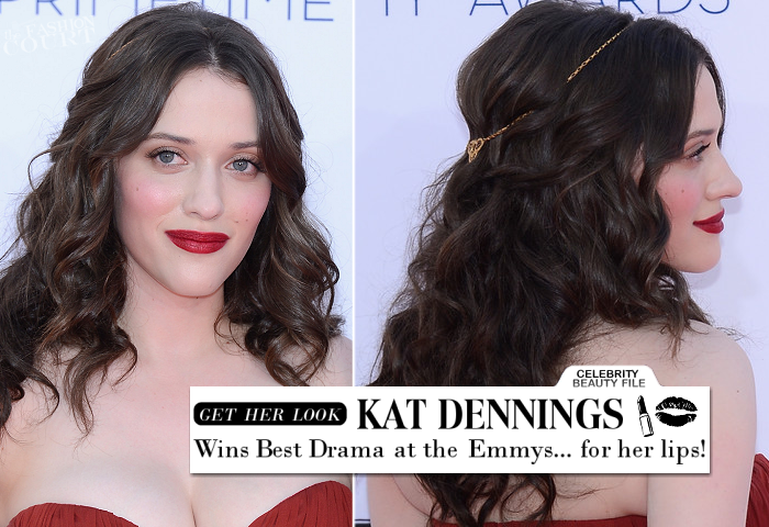 Emmy Beauty: Kat Dennnings Wins 'Best Drama' for Bold Lips!