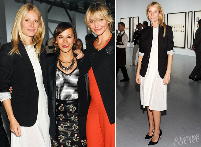 Gwyneth Paltrow in Stella McCartney | Bottega Veneta Toasts Taryn Simon Dinner