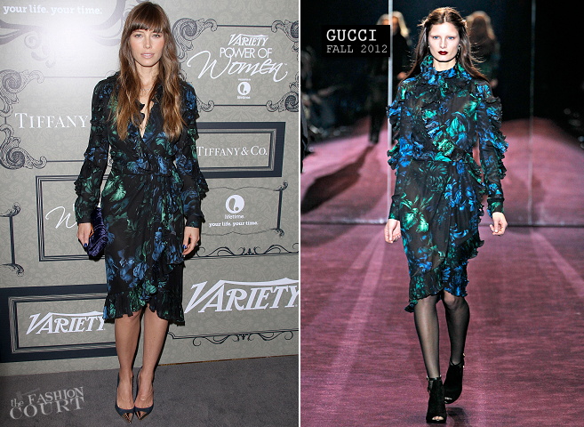 Jessica Biel in Gucci | Variety's 4th Annual Power Of Women Event