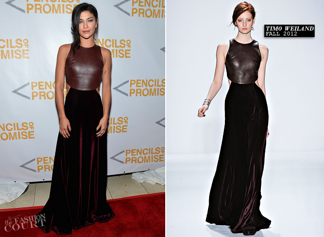 Jessica Szohr in Timo Weiland | 2nd Annual Pencils of Promise Gala