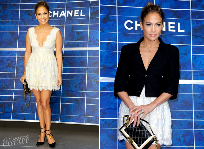 Jennifer Lopez in Chanel | Paris Fashion Week: Spring 2013 - CHANEL