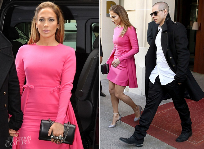 Jennifer Lopez in Valentino | Paris Fashion Week: Spring 2013 - Valentino