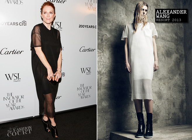 Julianne Moore in Alexander Wang | WSJ. Magazine 'Innovator Of The Year' Awards 2012