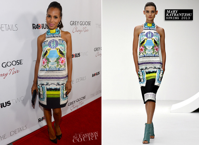 Kerry Washington in Mary Katrantzou | 'The Details' Hollywood Premiere