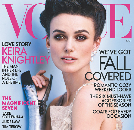 Keira Knightley for the October Issue of VOGUE!
