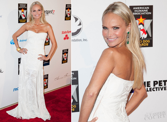 Kristin Chenoweth in Roberto Cavalli | American Humane Association's Hero Dog Awards
