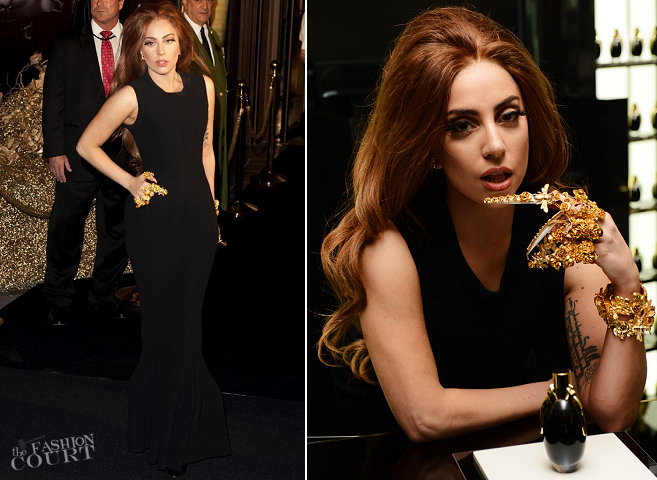 Lady Gaga at the FAME Fragrance Launch at Harrods