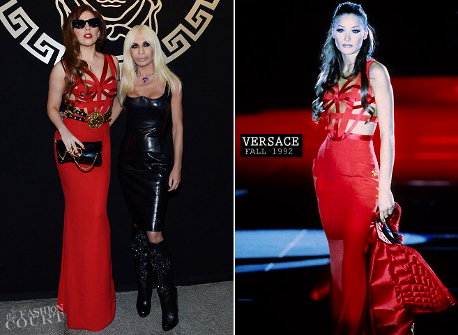 Lady Gaga's Rotating '90s Gianni Versace Dresses!