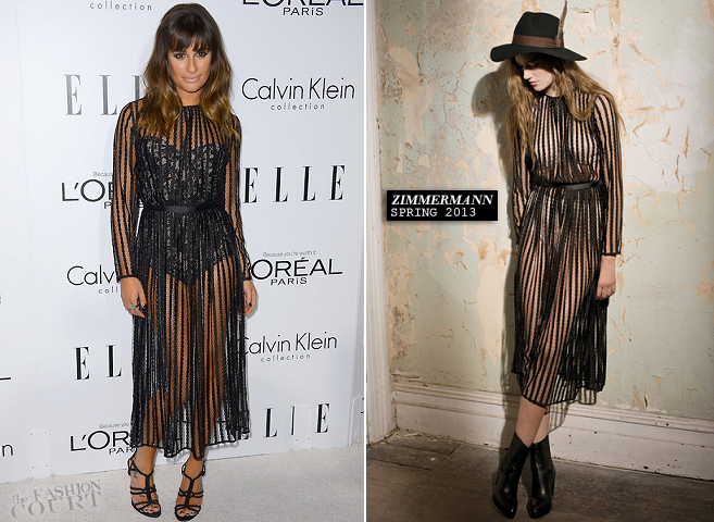 Lea Michele in Zimmermann | ELLE's 19th Annual Women In Hollywood Celebration