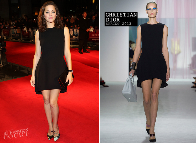 Marion Cotillard in Christian Dior | 'Rust and Bone' Premiere: 2012 BFI London Film Festival