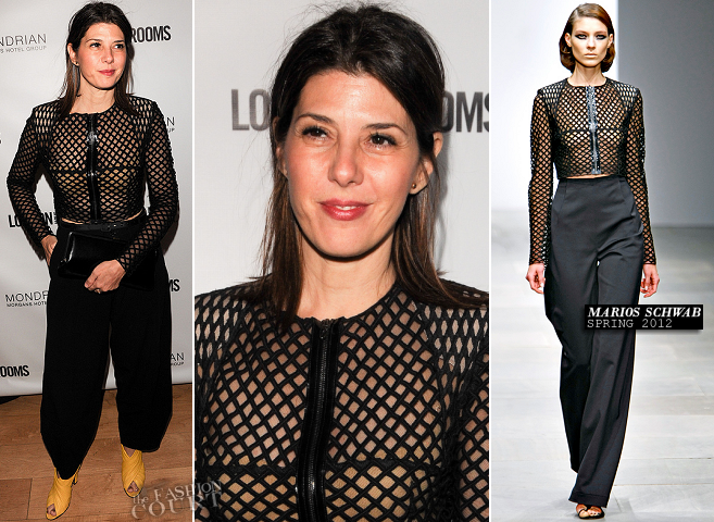 Marisa Tomei in Marios Schwab | British Fashion Council Cocktail Party 2012