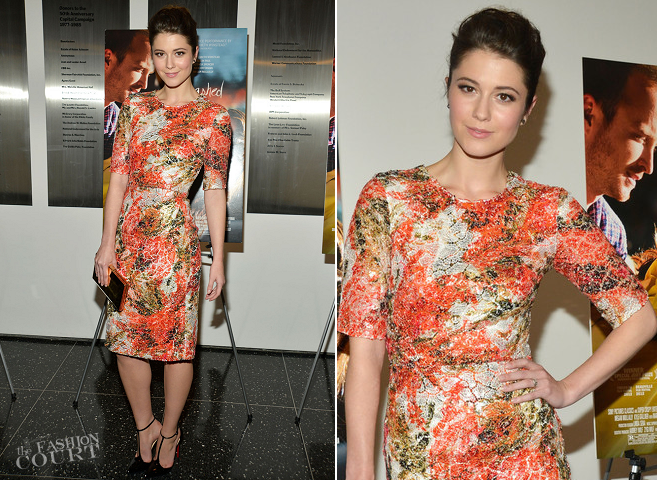 Mary Elizabeth Winstead in Erdem | 'Smashed' NYC Premiere