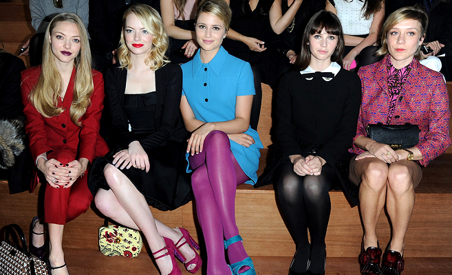 Front Row at Miu Miu - Spring 2013 Fashion Show - Paris Fashion Week