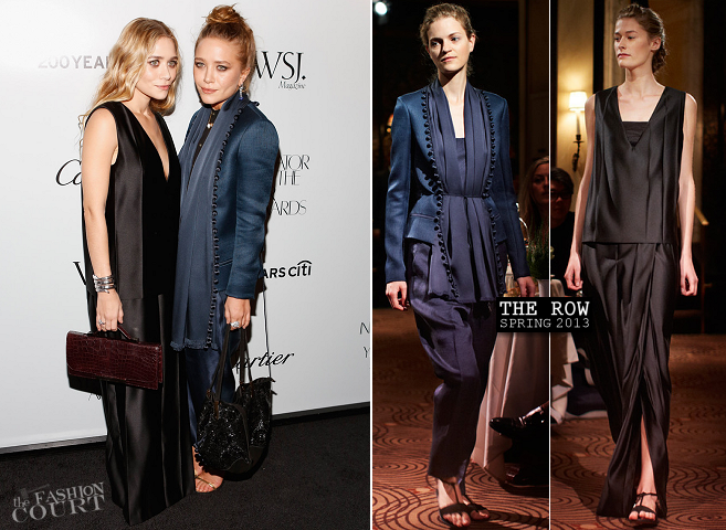 Mary-Kate Olsen & Ashley Olsen in The Row | WSJ. Magazine 'Innovator Of The Year' Awards 2012